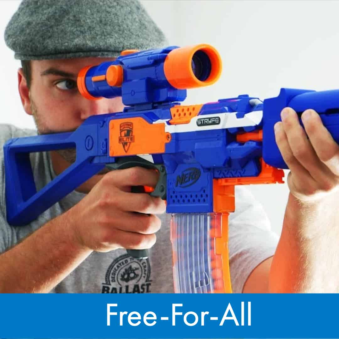 Nerf War Games - How to play Free-For-All