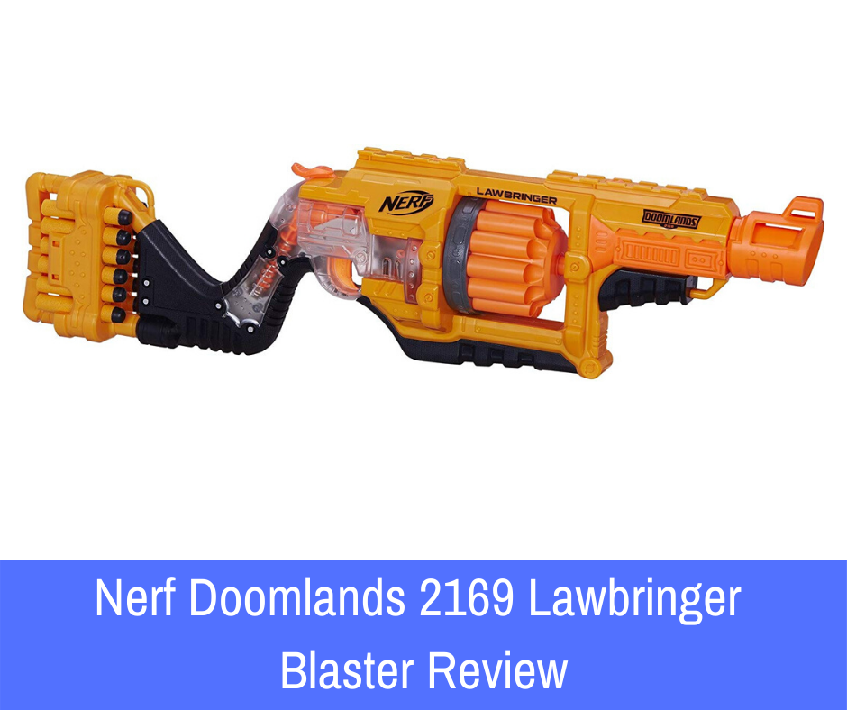 Review: To make sure that you are making the best decision, however, we found it necessary to give you the full rundown of this weapon before you commit to the purchase. If you think that the Nerf Doomlands 2169 Lawbringer blaster is for you, continue reading below to get the full review on this gun!