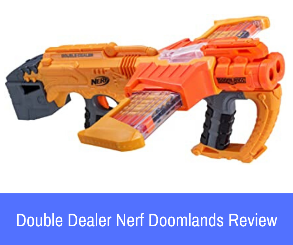 Review: The Nerf Doomlands 2169 Double Dealer blaster is a clip-system blaster that will allow you to get the manual blasting experience that you are looking for.