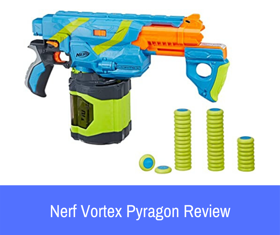 Review: One of the most exciting disc guns offered by Nerf is the Nerf Vortex Pyragon. If you are thinking about switching up your collection and adding a blaster that would be excellent for indoor battles, let's take a closer look at the Pyragon and what it has to offer.
