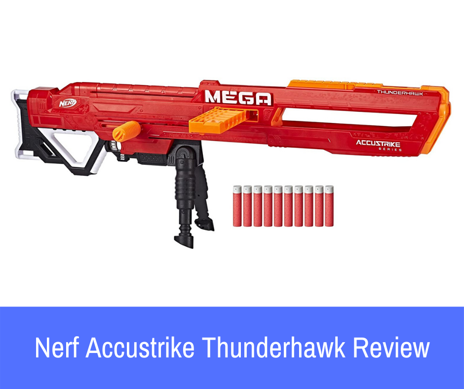 Review: We have a really big bad boy on our hands. Introducing the Nerf Accustrike Thunderhawk. Power? It's got it. Range? It's got it.