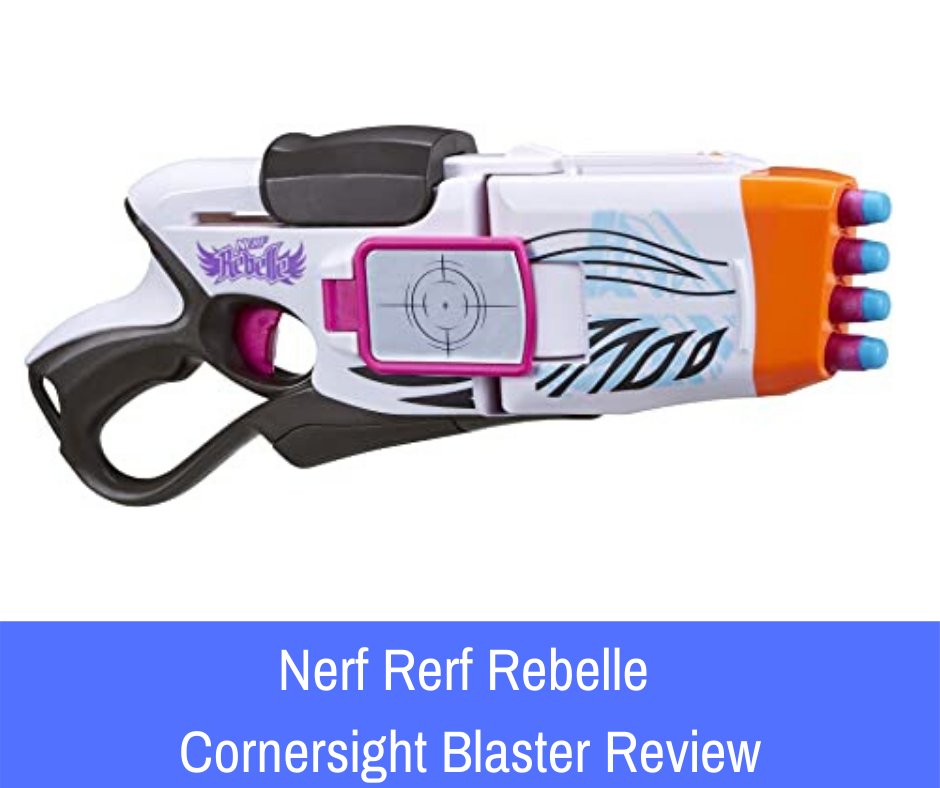 Review: The Nerf Rebelle Cornersight Blaster is listed as one of the top 10 Nerf Rebelle Blasters by many bloggers. Its unique features include a swiveling muzzle and built-in flip-out mirrors that enable the Nerfer using the Cornersight to aim and fire at tough angles and corners.