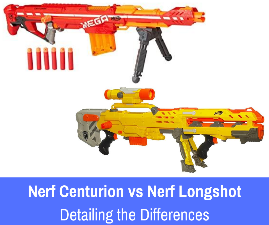 VS: The Nerf Centurion and the Nerf Longshot are huge blasters in the Nerf franchise. In this article, we will look at both mega blasters....