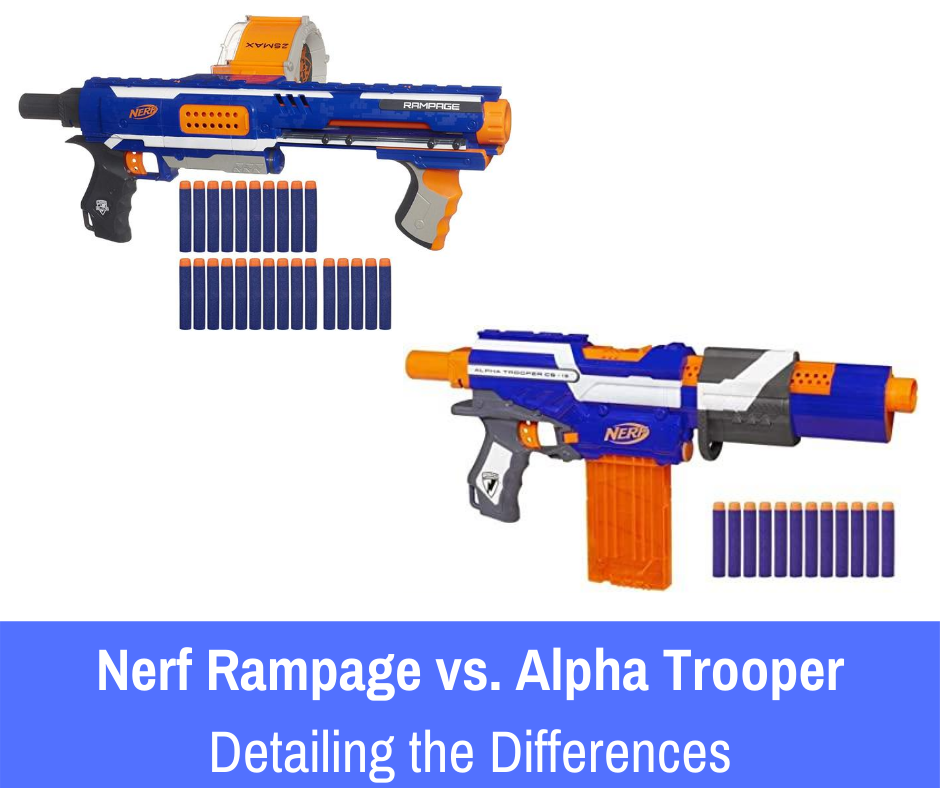 We'll be reviewing of the top pump action guns: Rampage vs the Alpha Trooper both suitable for your kids right here.