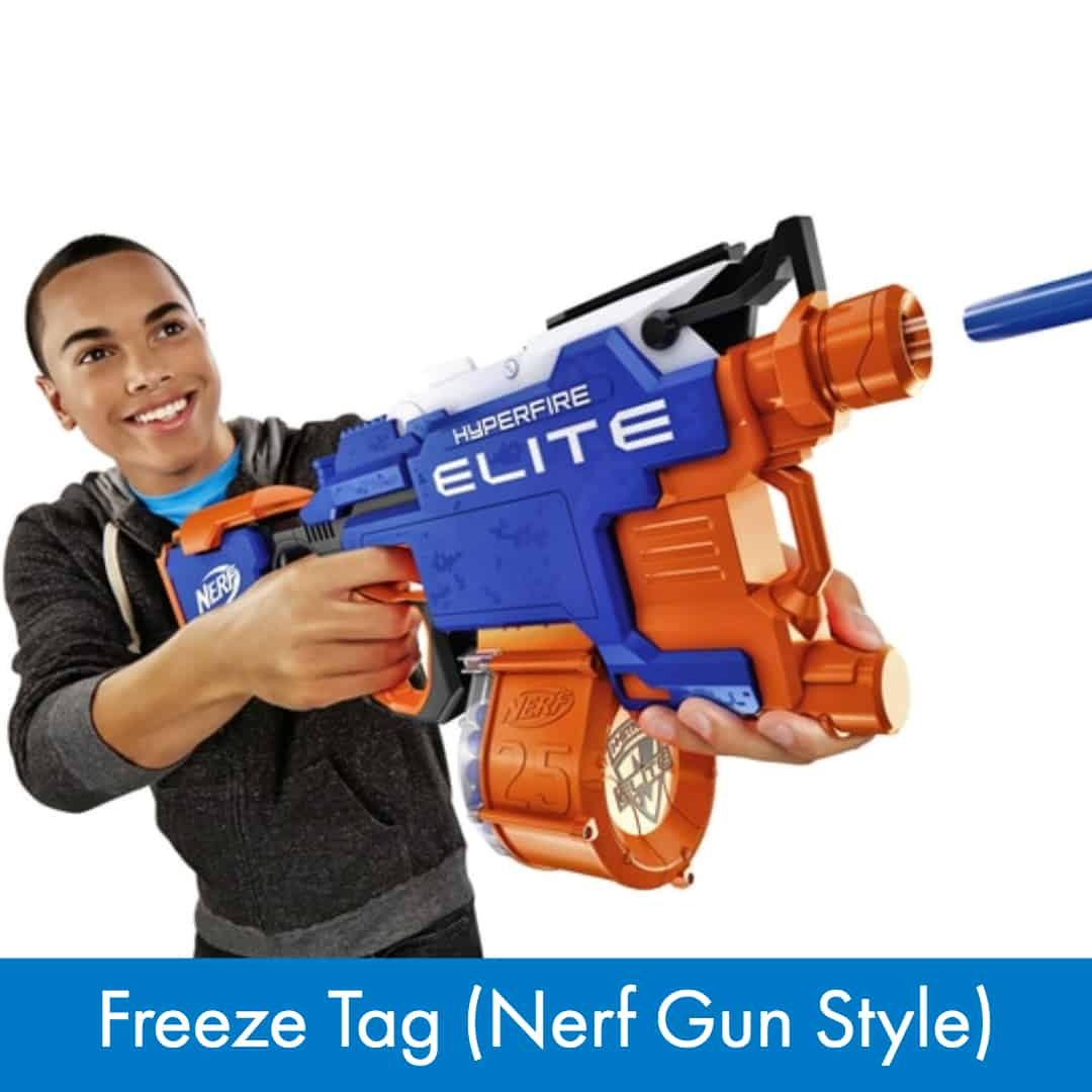 Nerf War Games - Freeze Tag (Nerf Gun Style)