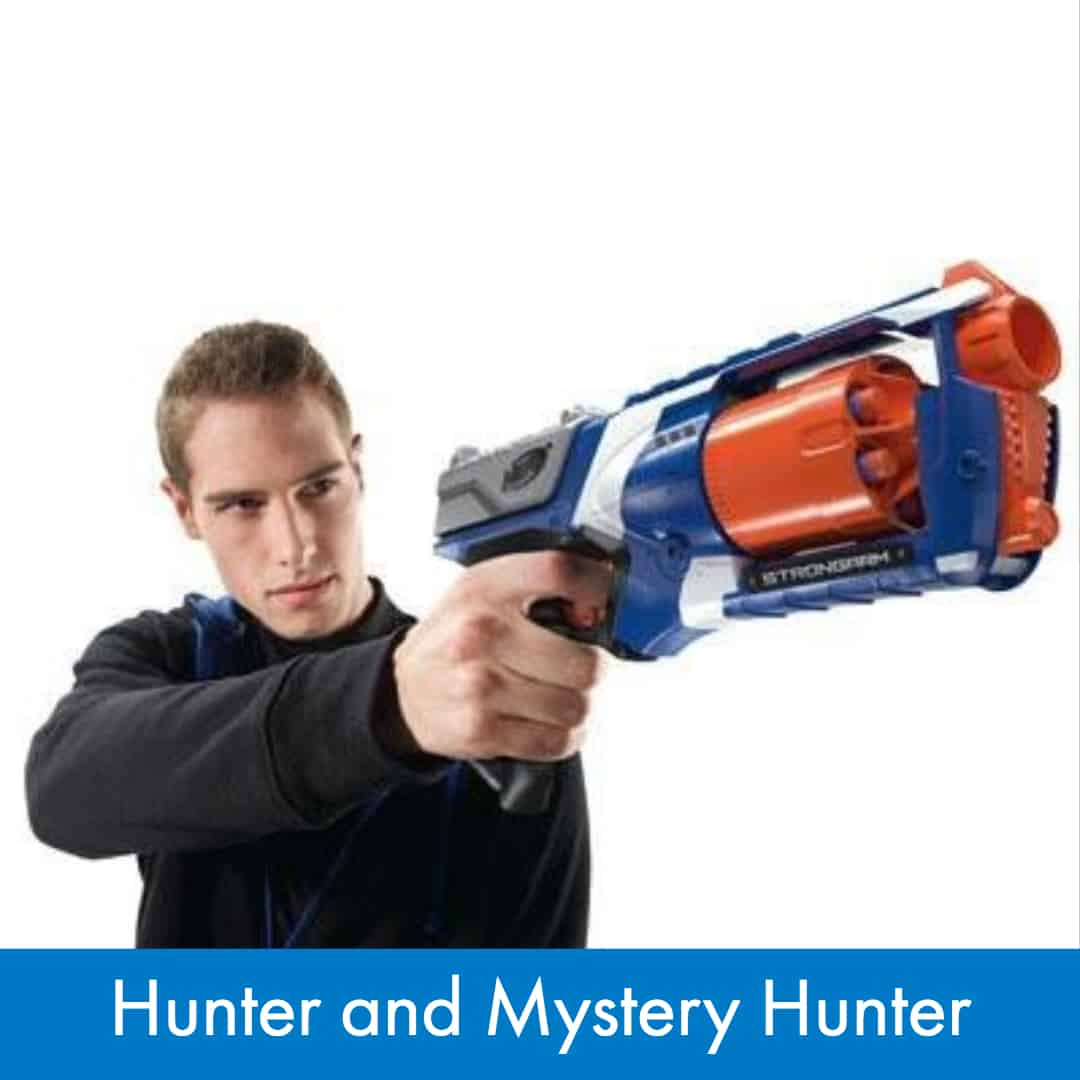 Nerf War Games - How to play Hunter and Mystery Hunter