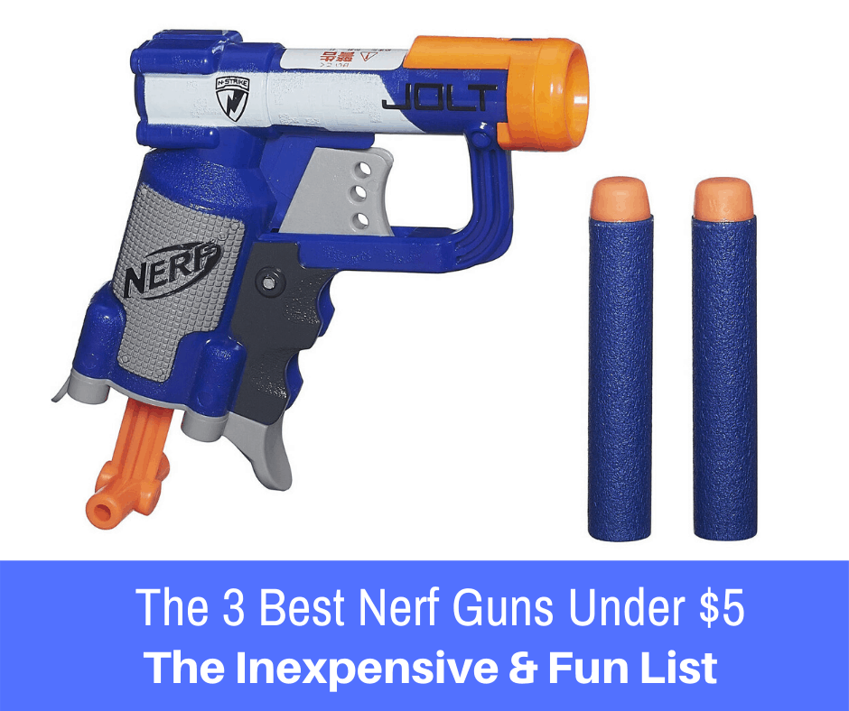 If you are on the hunt for an extremely affordable Nerf blaster, here are the 3 best Nerf guns that you can purchase for under $5!
