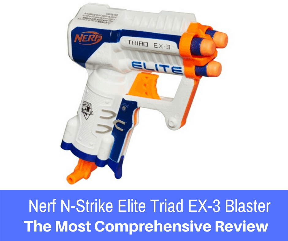 Hailing from the N-Strike Elite series, the Nerf N-Strike Elite Triad EX-3 blaster is a three shot blaster for loads of fun... Here is our full review