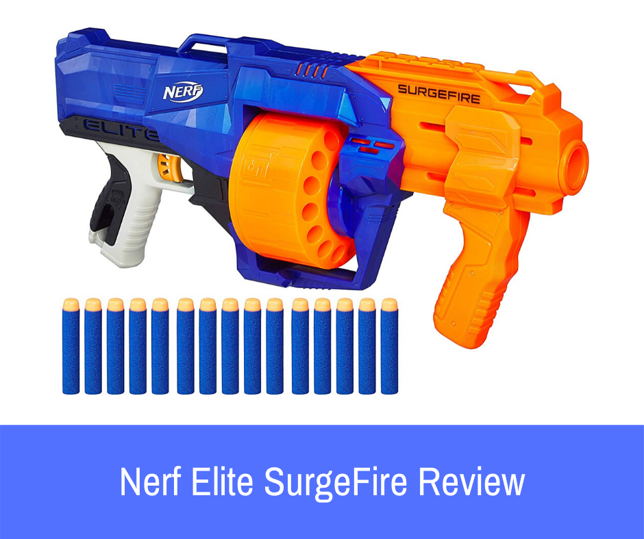 "Review: One of the less talked about weapons in this series, which offers that ""something in-between"" experience for Nerf users who want a manual weapon that has more power and ammo than the average blaster, is the Nerf N-Strike Elite SurgeFire blaster."