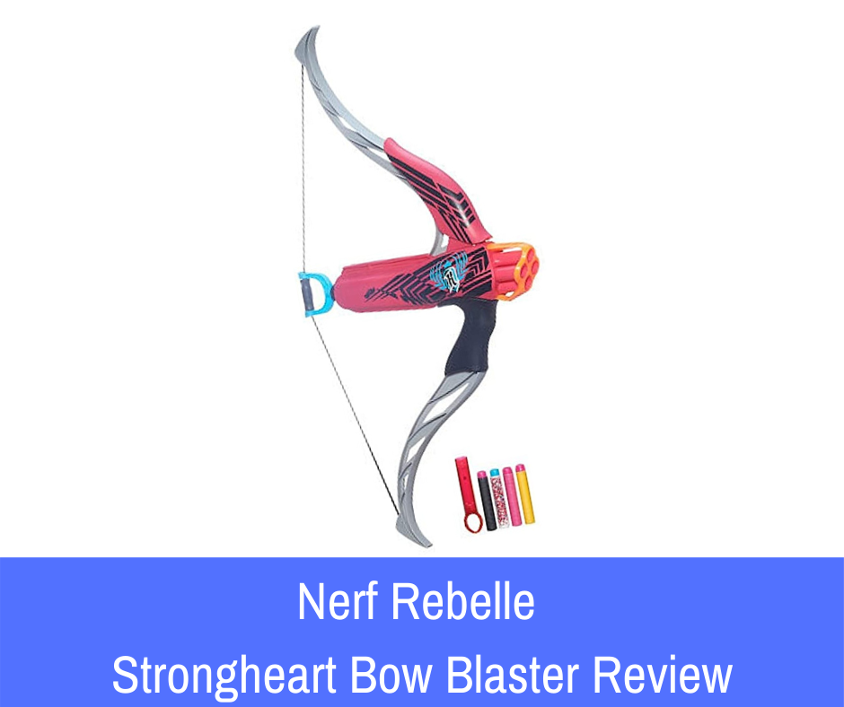 Review: The Nerf Rebelle Strongheart Bow Blaster is a blaster that manifests in a bow and arrow form. It holds up to four Nerf darts at a time and is designed to provide considerable impact.