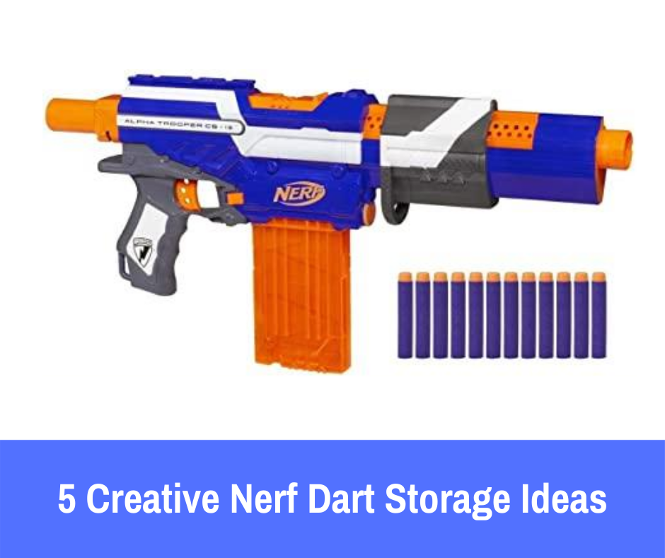 Fortunately, plenty of other parents have come up with some creative solutions to make sure that their child's passion for Nerf is not a messy one. If you are having trouble getting all of your child's ammo in one place, here are 5 Nerf dart storage ideas that are guaranteed to make dart storage a breeze.