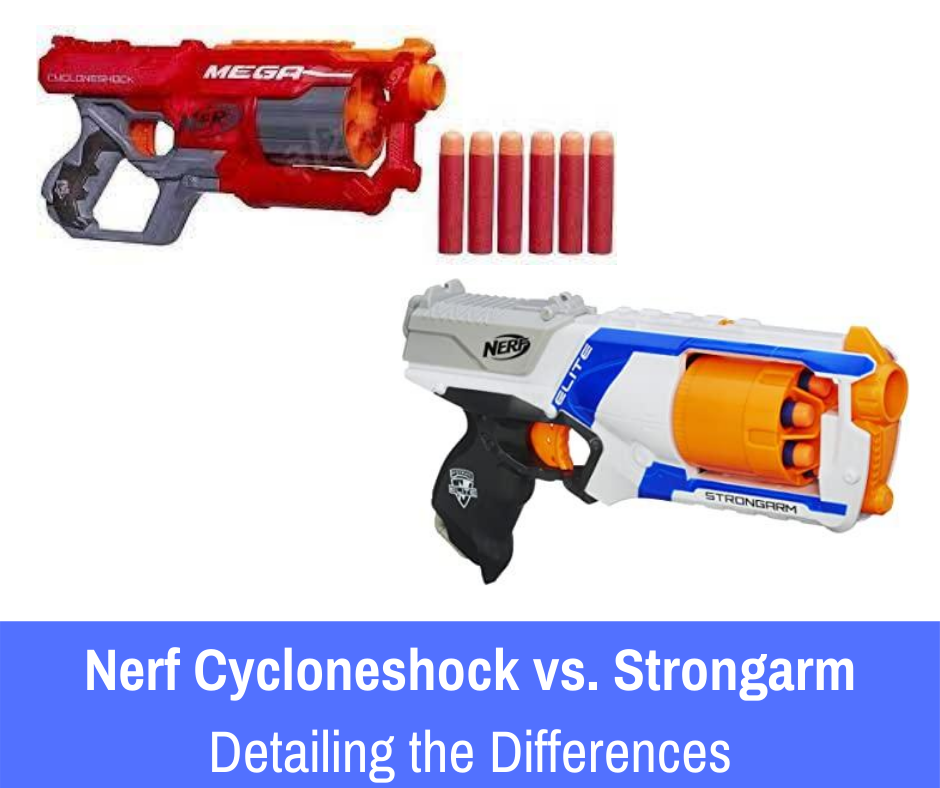 Today we'll be examining two impressive toy guns befitting for your adventure. Get ready to dive into the toy gun world of nerf cycloneshock and strongarm!