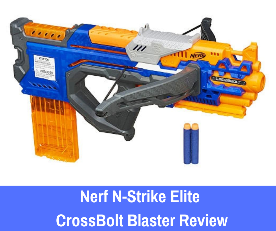 The Nerf N-Strike Elite CrossBolt blaster is an excellent primary weapon to carry into battle. Why? Although this blaster is indeed a manual weapon, it comes armed with a 12-dart clip that will allow you to streamline the reloading process.