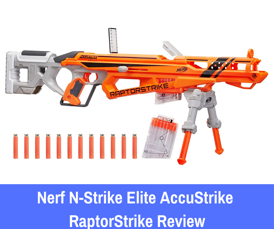 The Nerf N-Strike Elite AccuStrike RaptorStrike uses a bolt-action priming mechanism on the side of the weapon to prepare your shots.