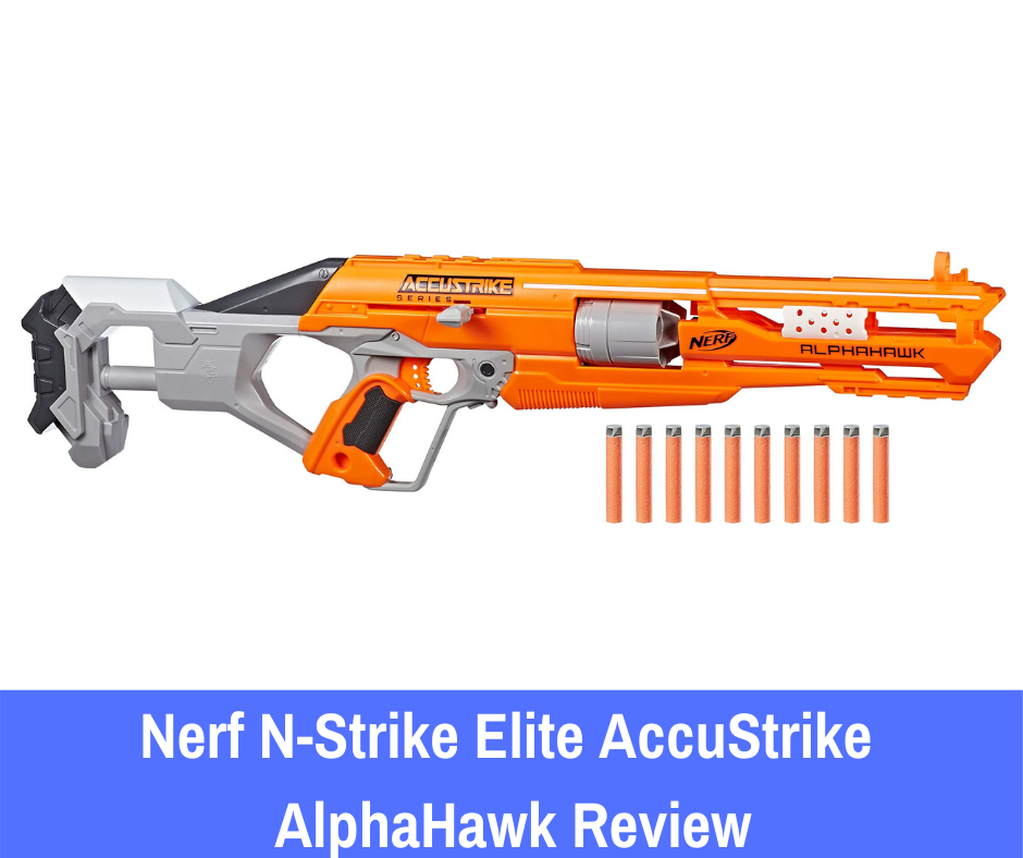 The N-Strike Elite AccuStrike series is one that is said to offer improved accuracy, which is a direct result of the spiral tip that the makers have incorporated into the new darts.