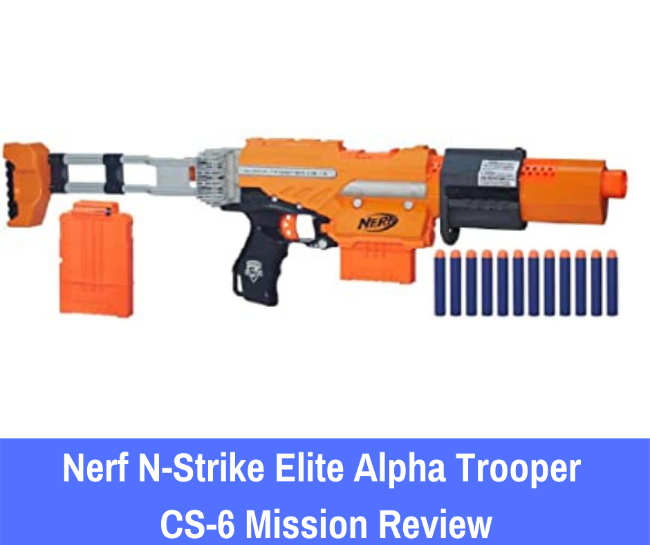 The Nerf N-Strike Elite Alpha Trooper CS-6 Mission Kit is a blaster that has been reinvigorated for re-entry into the Nerf Elite series, offering improved performance and an even better design.