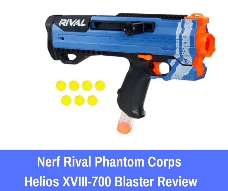 the Nerf Rival Phantom Corps Helios XVII-700 does not skimp on the additional features that you would expect from a manual Nerf Rival series blaster.