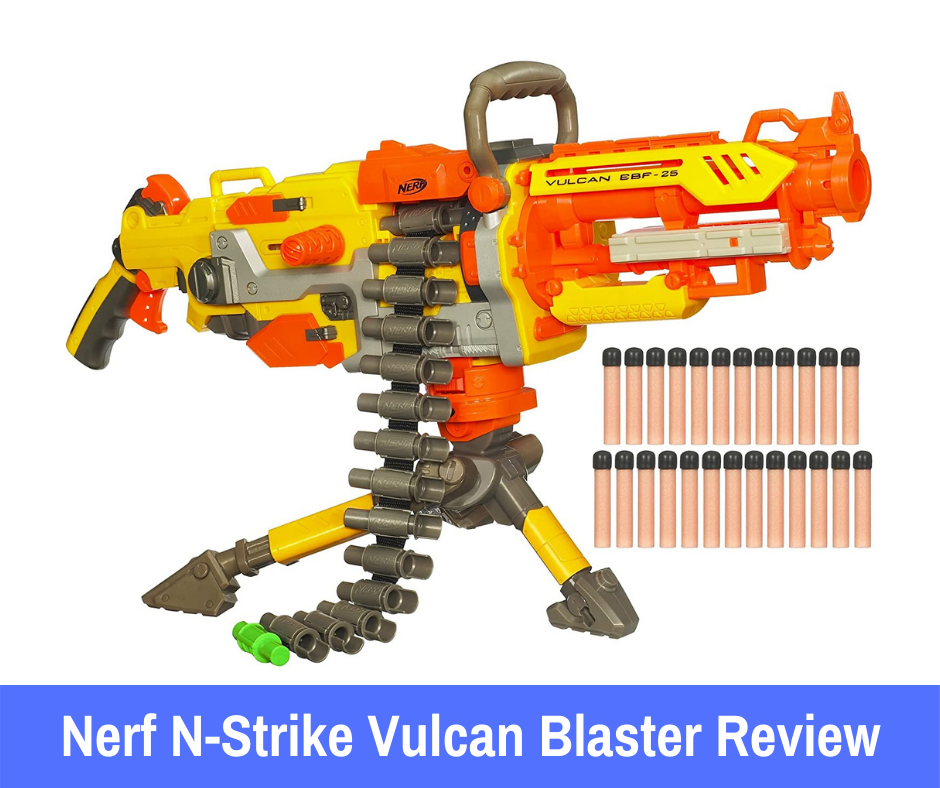 Nerf N-Strike Vulcan is one of those blasters that gets more and more exciting as you explore its functionality.